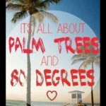 sign saying it's all about trees and 80 degrees