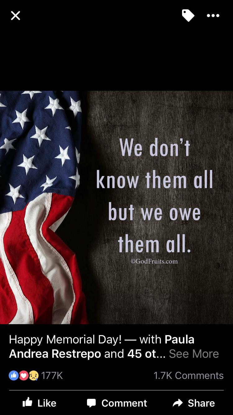 flag with we don't know them all but we owe them all