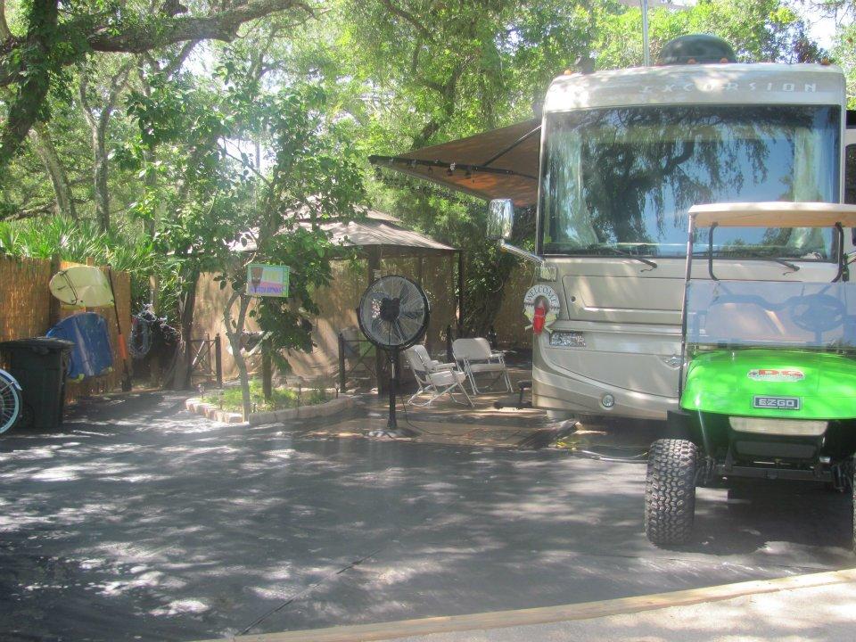 trailer at campsite