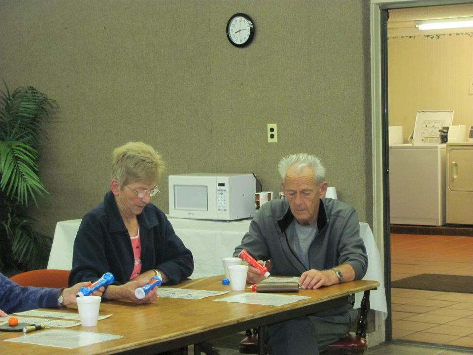 two people playing bingo