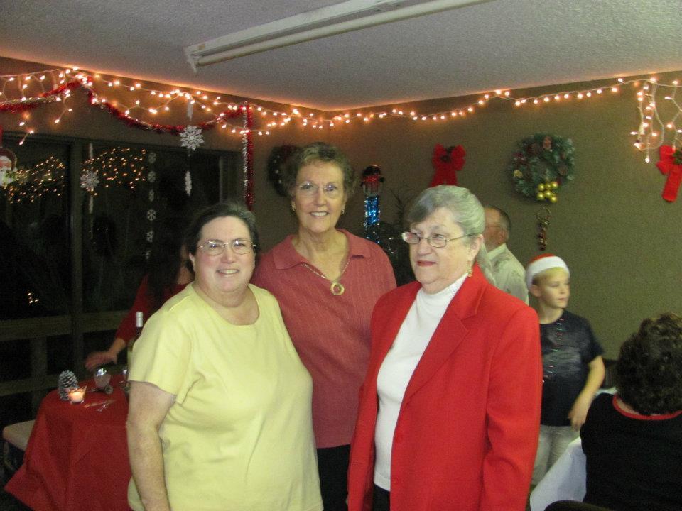 three woman standing