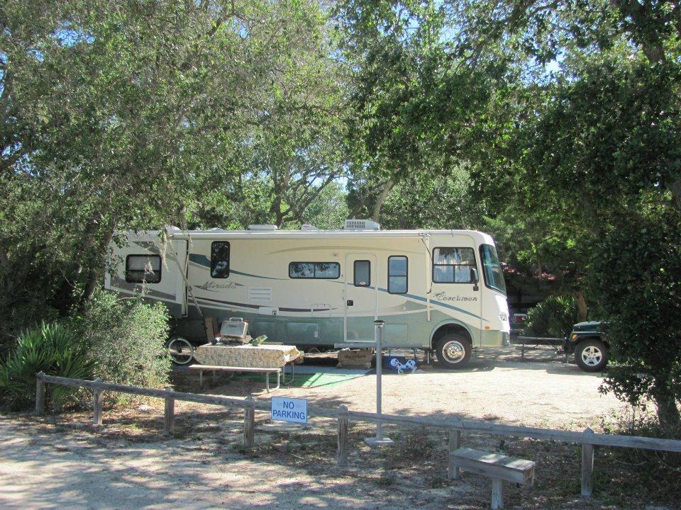 motorhome on campsite