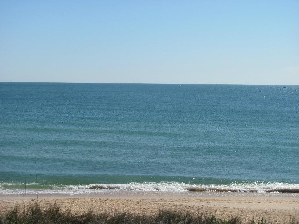 sandy beach with atlantic ocean