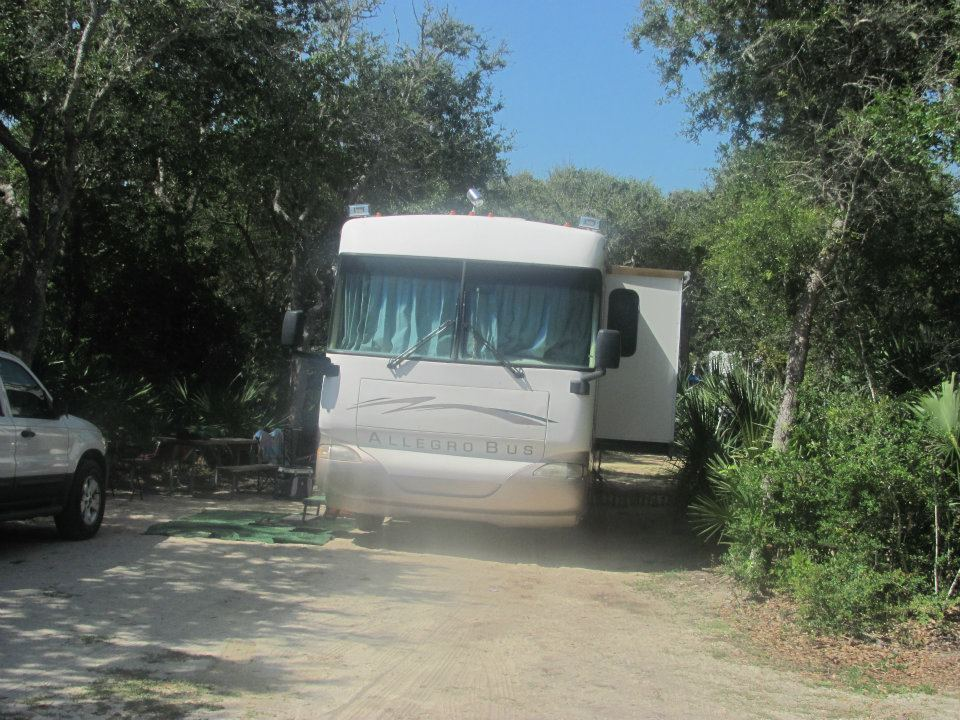 rv on campsite