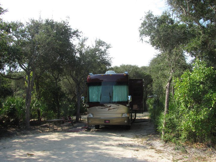 motorhome on campsite